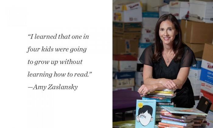 Photo and quote of Amy Zaslansky from the Long Island Pulse